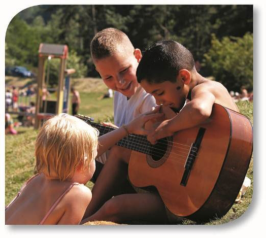 guitare en camp